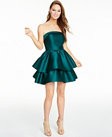 Juniors' Strapless Double-Tiered Dress