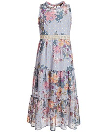 Big Girls Floral-Print Tiered Maxi Dress