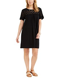 Petite Cotton Eyelet Dress, Created for Macy's