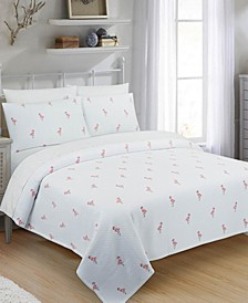 Flamingo Full/Queen Coverlet