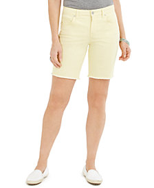 Style & Co Raw-Edge Bermuda Shorts, Created for Macy's