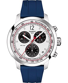 Men's Swiss Chronograph PRC 200 Blue Rubber Strap Watch 42mm - Limited Edition