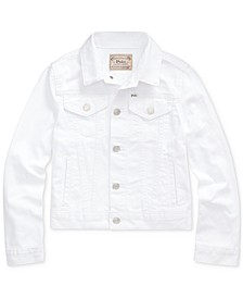 Big Girls Cotton Denim Trucker Jacket