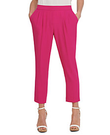 DKNY Pleated-Waist Straight-Leg Pants
