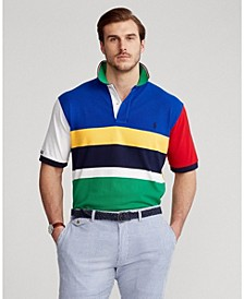 Men's Classic-Fit Color-Blocked Polo Shirt