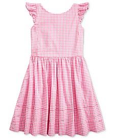 Toddler Girls Gingham Cotton Poplin Dress