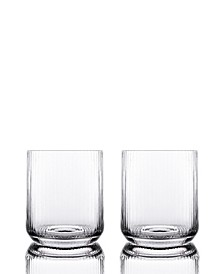 Optic Double Old Fashioned Glasses - Set of 2