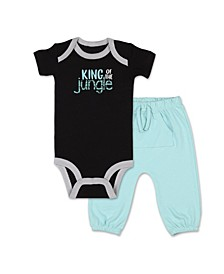 Baby Boy Safari Story King of Jungle Shirt and Pant Set