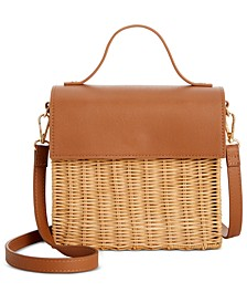 Rattan Top Handle Satchel, Created for Macy's
