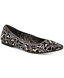 Women's Step 'N Flex Poppyy Pointed Toe Knit Flats, Created for Macy's
