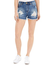 Meredith Distressed Denim Shorts