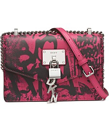 Elissa Graffiti Logo Leather Shoulder Bag, Created for Macy's