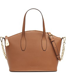 Statement Series Leather Lock Satchel