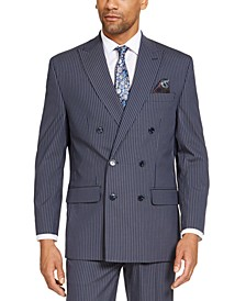 Men's Classic-Fit Stretch Double Breasted Suit Separate Jackets