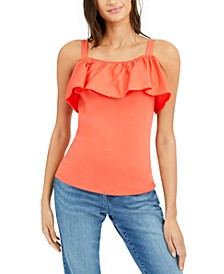INC Ruffled Off-The-Shoulder Top, Created for Macy's