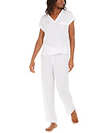 Scalloped Eyelet Pajama Set, Created for Macy's