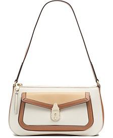 Lock Leather  Demi Shoulder Bag