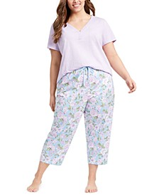 T-Shirt & Printed Pajama Pants Collection, Created For Macy's