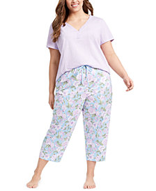 Charter Club T-Shirt & Printed Pajama Pants Collection, Created for Macy's