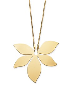 "Gold-Tone Flower 34"" Pendant Necklace, Created for Macy's"