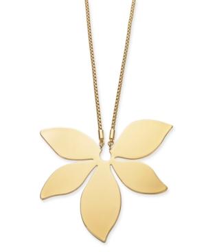 """Gold-Tone Flower 34"""" Pendant Necklace"""