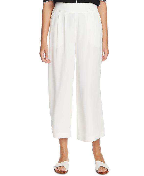 1.STATE Trendy Plus Size Wide-Leg Crepe Pants