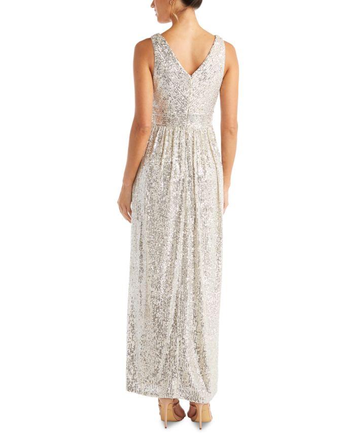 Nightway Petite Sequinned Gown & Reviews - Dresses - Petites - Macy's