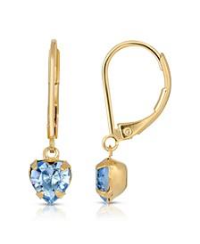 14K Gold-Dipped Petite Heart Drop Earrings