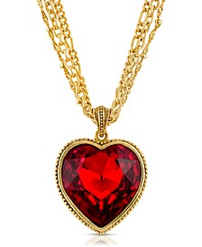 Crystal Heart Multi Chain Necklace