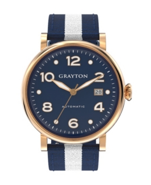 Men's Classic Collection Blue and White 2 Colors Fabric Strap Watch 44mm