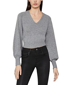 Cropped Bishop Sleeve Pullover