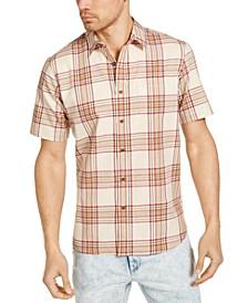 Men's Ken Plaid Short Sleeve Shirt, Created for Macy's