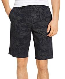 Men's Dark Tonal Tropical Print Shorts, Created for Macy's
