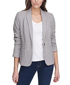 Ribbed Striped Blazer