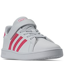 Little Girls Grand Court Stay-Put Closure Casual Sneakers from Finish Line