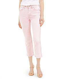 7 For All Mankind Cropped Straight-Leg Jeans