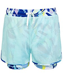 Big Girls Mesh Twofer Shorts, Created for Macy's