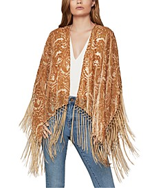Paisley Dot Burnout Shrug