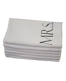 Monogram Mr. & Mrs. 6-Pc. Turkish Cotton Guest Towel Set