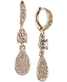 Pavé Pear-Shape Drop Earrings