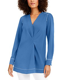 Contrast-Stitch Tunic, Created for Macy's