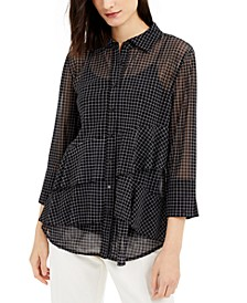 Asymmetrical-Tiered Mesh Top, Created for Macy's