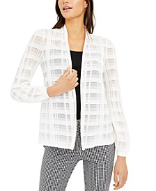 Petite Illusion Plaid Cardigan, Created for Macy's