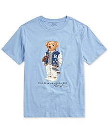 Big Boys Football Bear Cotton T-Shirt