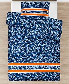 2 Piece Cool Camo Duvet Cover Pillowcase Set, Twin