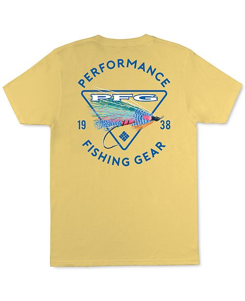 Columbia Sportswear Men's Performance Fishing Gear With Fishing Lure Graphic T-Shirt