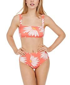 Square Neck Bikini Top & High-Waist Bikini Bottoms