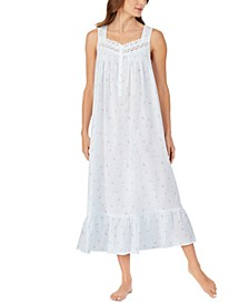 Cotton Floral-Print Ballet Nightgown