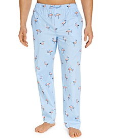 Men's Flamingo Cotton Pajama Pants, Created for Macy's