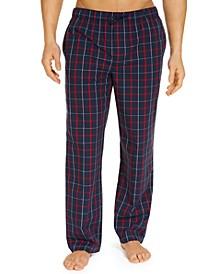 Men's Plaid Cotton Pajama Pants, Created for Macy's